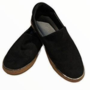 J Slides | Black Suede slip-on shoes